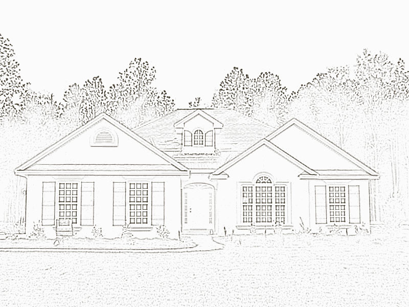 Modern Dream House Drawing
