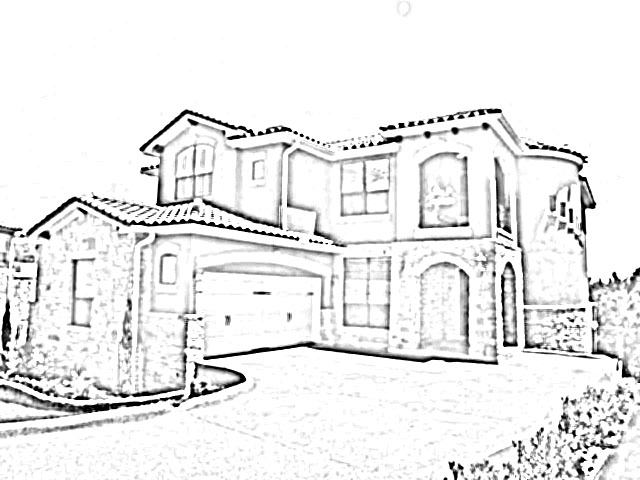 Modern dream house drawing for Draw your dream house